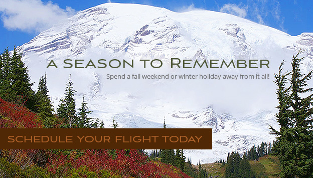 A season to remember. Spend a fall weekend or winter holiday away from it all!